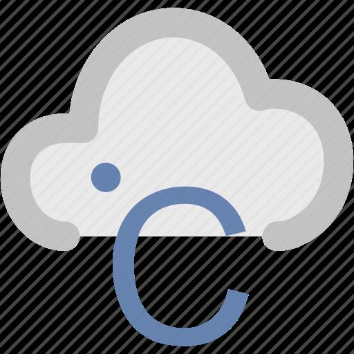 celsius, celsius cloud, degree, temperature, zero degrees icon