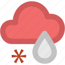 atmosphere, cloud, rain, rainfall, raining, snow, weather, winter rain icon