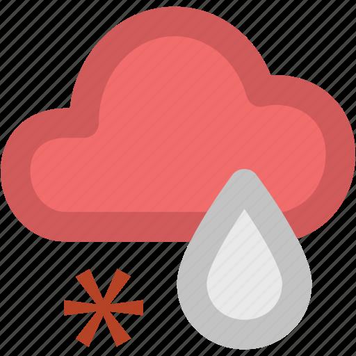 atmosphere, cloud, rain, rainfall, raining, snow, weather, winter rain icon