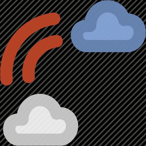 atmosphere, forecast, rainbow, semicircle, sky, sunrays icon