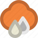 atmosphere, cloud, clouds drops, rain, raining, weather icon