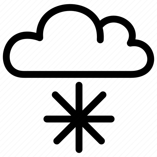 climate, cloud, cloudy, forecast, snow, snowing icon