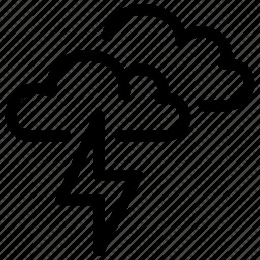 forecast, meteo, precipitation, thunder, thunderstorm, weather icon