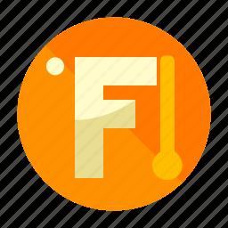f, fahrenheit, temperature, thermometer, weather icon