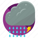 cloud, lightening, rain, storm, weather icon