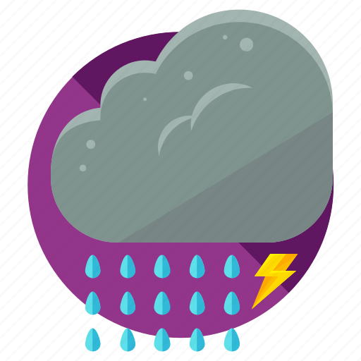 cloud, lightening, rain, storm, weather icon