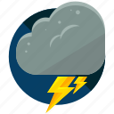 bolt, cloud, light, lightening, storm, weather icon