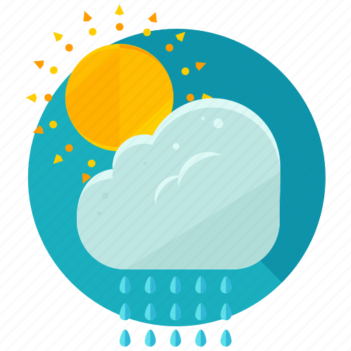 cloud, partly, rain, sun, sunny, weather icon