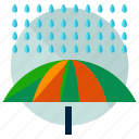 autumn, protect, rain, umbrella, weather icon