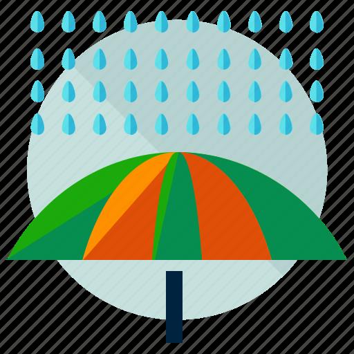 autumn, protect, rain, umbrella, weather icon