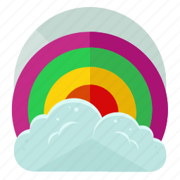 cloud, color, rain, rainbow, weather icon