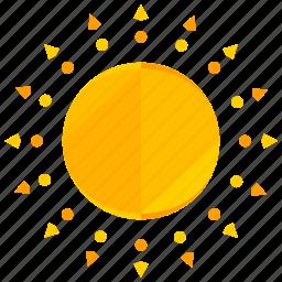 heat, summer, sun, sunny, weather icon