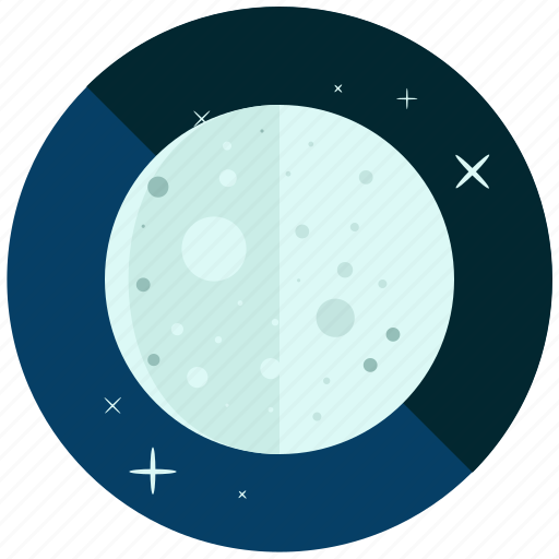 cycle, full, moon, night, phase, weather icon