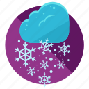 cloud, snow, snowflake, snowstorm, storm, weather icon
