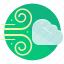 cloud, gust, strong, weather, wind icon