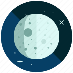 crescent, cycle, moon, night, phase, waning, weather icon