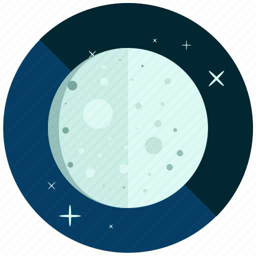 crescent, cycle, moon, night, phase, waning icon