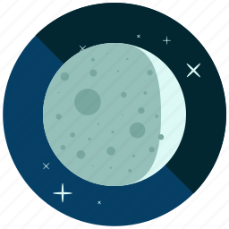crescent, cycle, moon, night, phase, waxing, weather icon