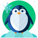 animal, cold, penguin, snow, weather, winter icon
