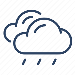 climate, clouds, forecast, light, rain, weather icon
