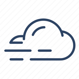 climate, cloud, forecast, mist, weather, wind icon