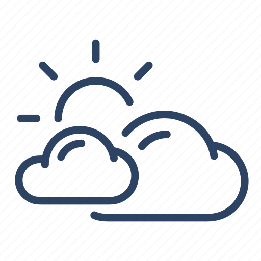 climate, cloudy, day, forecast, mostly, sun, weather icon