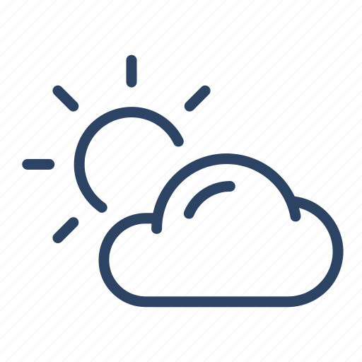 climate, cloudy, day, forecast, partly, sun, weather icon