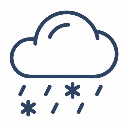 climate, cloud, forecast, rain, snow, weather, winter icon