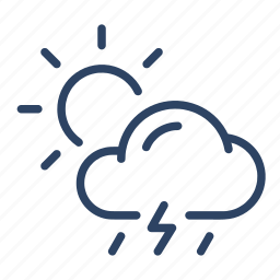 climate, cloud, day, forecast, scattered, showers, weather icon