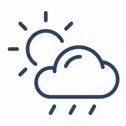 climate, cloud, day, forecast, scattered, thunderstorms, weather icon