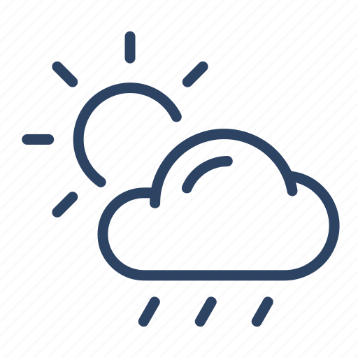 Climate, cloud, day, forecast, scattered, thunderstorms, weather icon - Download on Iconfinder