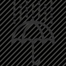 forecast, information, rain, sign, umbrella, weather icon