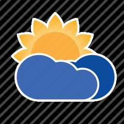 cloud, forecast, precipitation, sun, weather icon