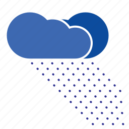 cloud, cloudy, forecast, precipitation, snow, storm, weather icon