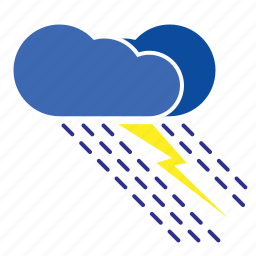 cloud, clouds, cloudy, flash, forecast, humid, rainy, storm, weather icon