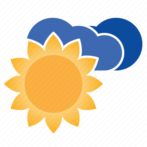 cloud, cloudly, clouds, cloudy, forecast, sun, sunny, weather icon