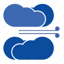 cloud, clouds, cloudy, cold, cool, forecast, storm, weather, wind, windy icon
