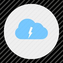 climate, lighting, monsoon, rain icon
