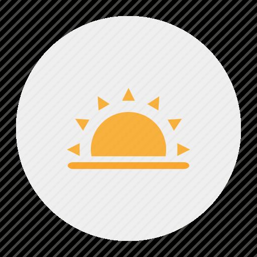 sunday, sunny, sunrise, sunset icon