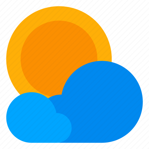climate, cloud, partly sunny, sun, weather icon