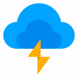 climate, cloud, flash, lightning, storm, weather icon