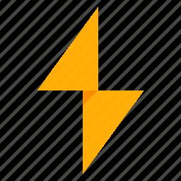 alert, flash, lightning, storm, warning, weather icon