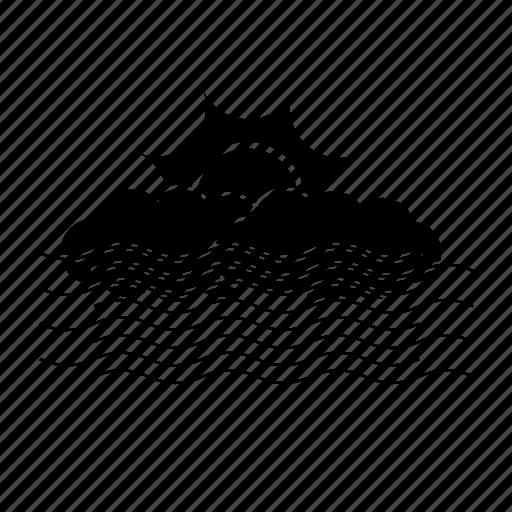 climate, cloud, fog, sun, weather icon