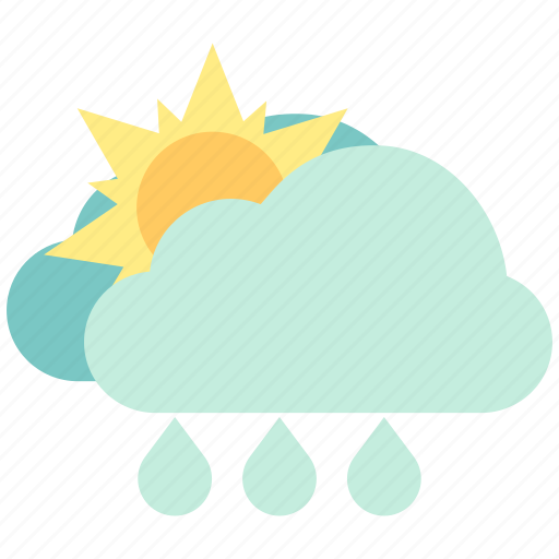 air, atmosphere, hot showers, light rain, rainfall, sky, weather icon