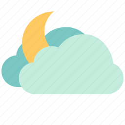 air, atmosphere, moon, orb, sky, sunny, weather icon