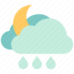 air, atmosphere, cloudy night, cloudy rain, moon cloundy, sky, weather icon