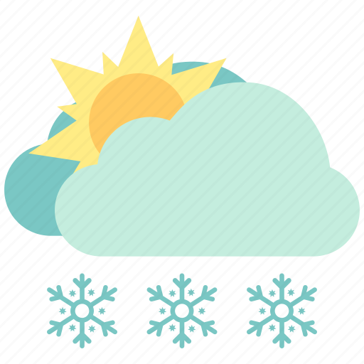 air, atmosphere, sky, snow, snow fine, sunny, weather icon