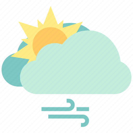 air, atmosphere, fine, sky, weather, wind, wind cloudy icon