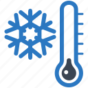 cold day, snowflake, thermometer, winter