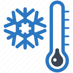 cold day, snowflake, thermometer, winter icon
